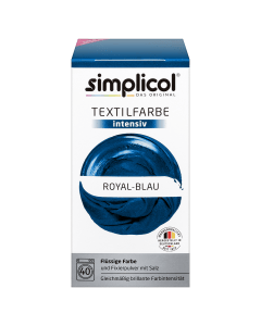 simplicol Textilfarbe intensiv Royal-Blau