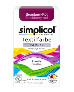 simplicol Fabric Dye expert Blackberry Red