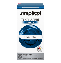 simplicol Fabric Dye intensive Royal Blue