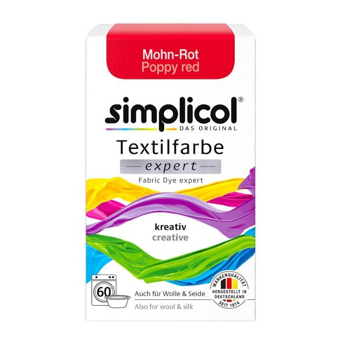 simplicol Fabric Dye expert Poppy Red