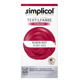 simplicol Fabric Dye intensive Ruby Red