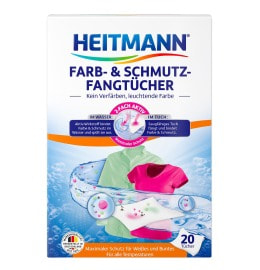 HEITMANN Colour & Dirt Collector Cloths, 20 cloths